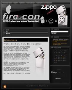 fire-con Werbemittel - Relaunch der Website durch www.greenmamba-studios.de