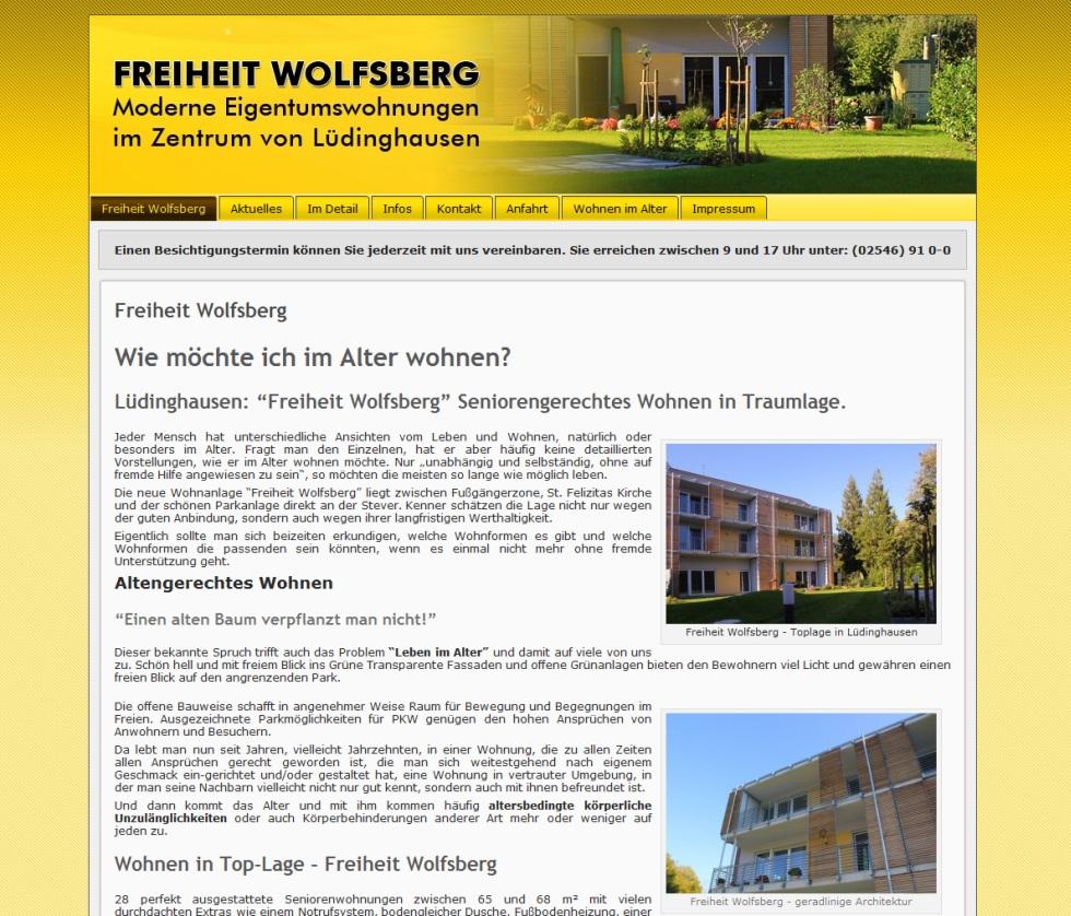 Vertriebsunterstützende Website – Freiheit Wolfsberg