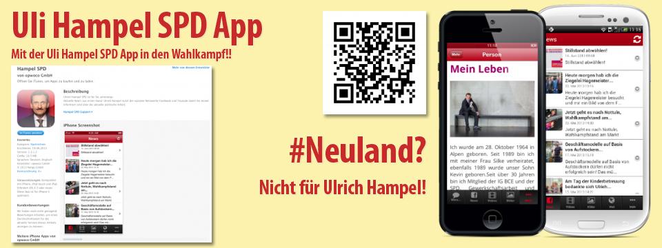 Die Wahlkampf APP für Uli Hampel – SPD