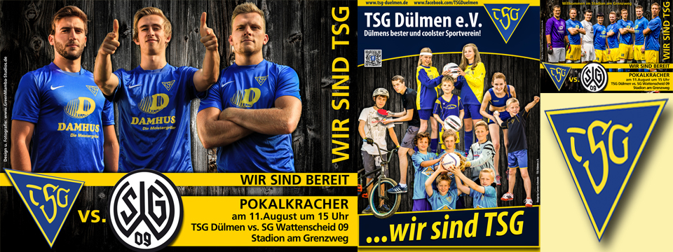 WIR SIND TSG… Plakate – Facebook – Kampagne
